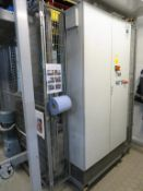 2007 Mariani Palletiser inc 2x Case Elevators, Powered Roller Conveyor and Belt Conveyor, 2x Pallet
