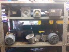 Qty of Various Used and Unused Gearboxes & Motors