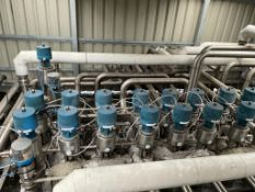 Valve matric to include approx 20 x Alfa Laval valves and qty of s/s pipework.