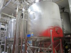 Tank & Pasteurisation Set Inc. 2 x Stainless Steel Tanks with load cells with load cells, 2x Valve M