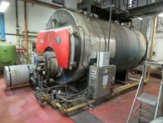 Boiler 10,000LB PH Cradley Steampacket 100PSi 1986. No C59608 with Hamworthy Burner and Spiral Sparc