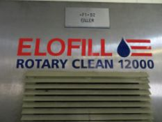 Elofill Rotary Clean 1200-40 Head Bottle Filler with 8 Head Screw Capper, Meyer Cap Hopper with Feed