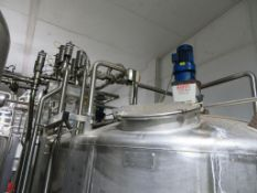 2 x Gusti Stainless Steel Tanks with High Level, Ground Level Valve Matrices and pump