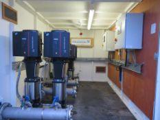 Grundfos Pumping Station in Skid Mounted Weatherproof Cabinet