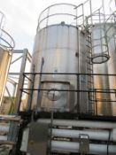 Silo 4- C 30,000 Litre Stainless Steel Silo with Top Agitation and 5 Valves
