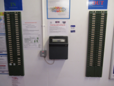 Major Clocking In/Out System Complete with 2 x Card Racks