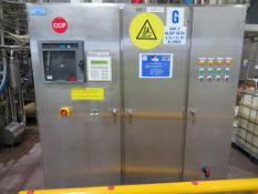 Stainless Steel Control Cabinet (Alfa 8)- 1.83 x 0.54 x 2.2m High