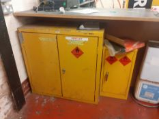 2 x Chemical Cabinets, approximate dimensions: 930mm x 490 x 920 and 360mm x 300 x 720