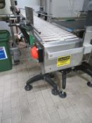 S-Shaped Acrylic Slat Band Transfer Conveyor approx 4m Long and 250mm Wide