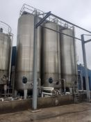 Moeschle 59,500 Litre Stainless Steel Tank with Nova Weigh Load Cells, No Agitator