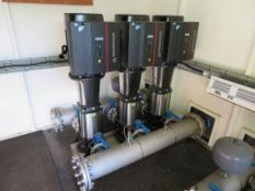 2015 Grundfos Pumping Station containing 6 x Grundfos Pumps in GRP Container