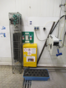 Chemical Cleaning Station to include Spil Bund, 2 x Hose Reels, Chemical cabinet, Eye wash Station,