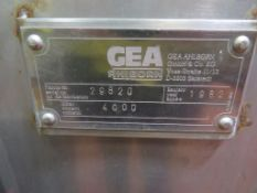 1982 GEA 4000L Insulated Stainless Steel Tank (CT1)