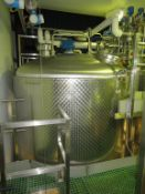 Moeschle 19,300L Stainless Steel Tank with Load Cells and Top Agitation c2.5m Diameter c 6m High