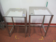 3 x s/s Teknomek Work Stations and 2 x Storage Cages