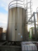 Silo 1- C 30,000 Litre Stainless Steel Silo with Top Agitation and 6 Valves