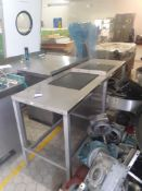 2 x Stainless Steel Tables and a Stainless Steel Cabinet