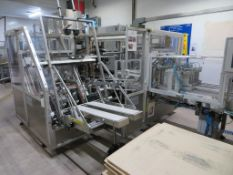 2009 Mariani Case Erector and Packer with 4 Lane Infeed and Nordson Pro Blue 10 Gluer