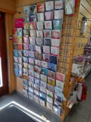 Assortment of cards and gift accessories, to wall