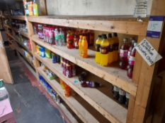 Large quantity of assorted stock to rear stores, to include various soft drinks, tinned food *