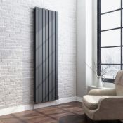 New 1800x532mm Anthracite Double Flat Panel Vertical Radiator. RRP £499.99.Rc264.Made From High