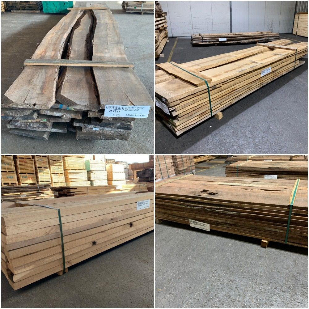 TIMBER ROUGH SAWN WOODEN BOARDS AND PLANKS. SQUARE EDGED KILN DRIED - RELISTED DUE TO PURCHASER DEFAULTING