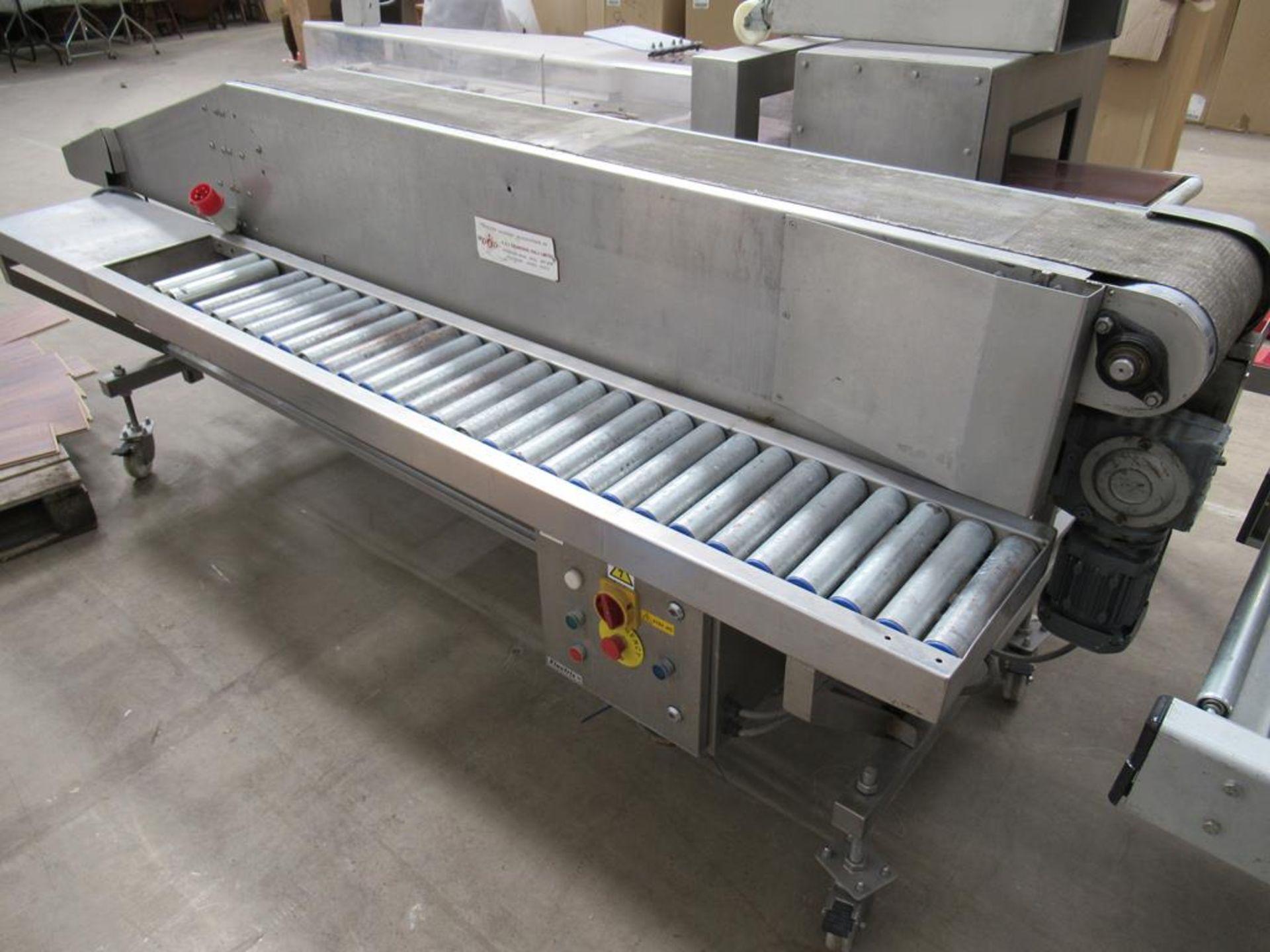 Unbranded Packing Conveyor on Castor Wheels