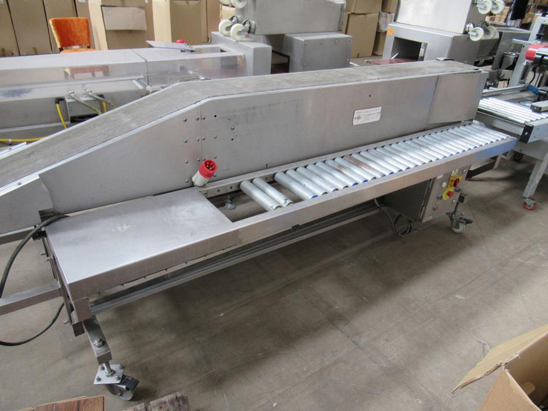 Unbranded Packing Conveyor on Castor Wheels - Image 2 of 4