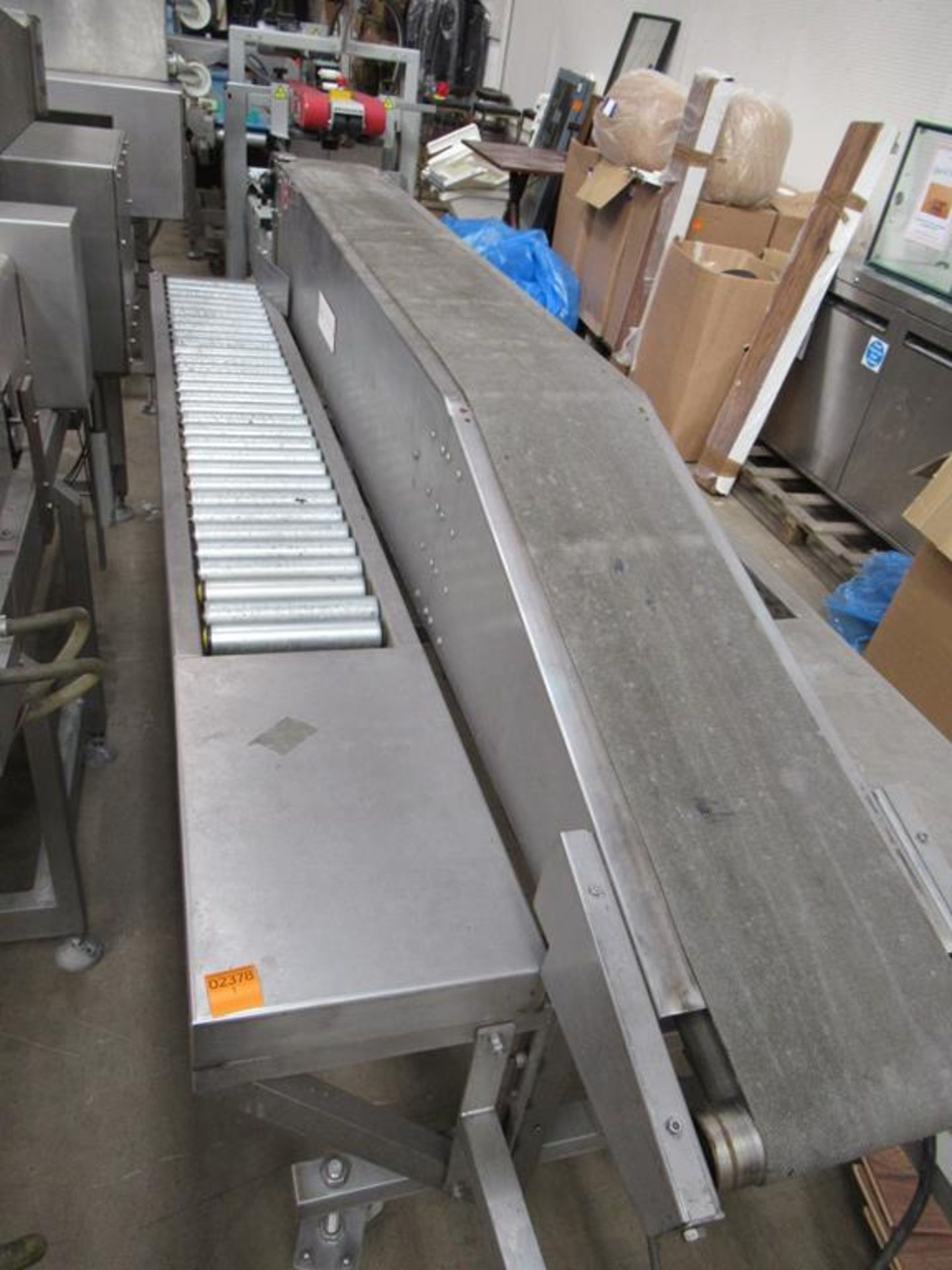 Unbranded Packing Conveyor on Castor Wheels - Image 4 of 4