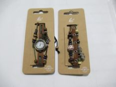 A box of Hippie Chic 'Boho' watches and bracelets- unopened (60 of each) total approx. £660