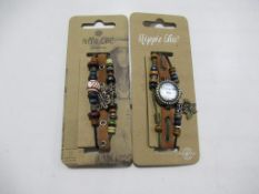 A box of Hippie Chic 'Boho' watches and bracelets - unopened (20 each) total approx RP £220