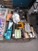 Pallet including motors, winch etc.