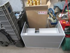 3x Wall Mounted Sink Units with Drawers (no sinks)