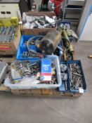 Qty of machine tooling, pipe fittings, gauges etc.