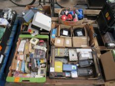 Pallet of assorted electrical items.