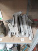 8 x metal shelf brackets