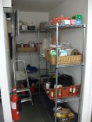 2 x 4 Tier Wire Shelving Units & Contents