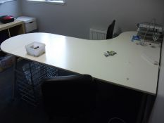Ergonomic Left Hand Office Desk with 2 Office Chai
