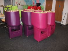 12 x Various Leather Effect Tub Chairs