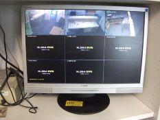 CCTV DVR, 8CH with 3 Cameras & HNC Monitor (Intern