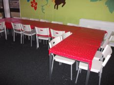 9 x Rectangular Tables with 20 x Plastic Chairs, W
