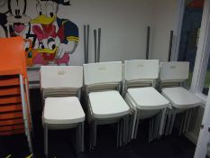 Approx. 30 x Plastic Chairs, White