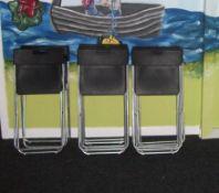 Quantity Steel Framed Foldaway Chairs