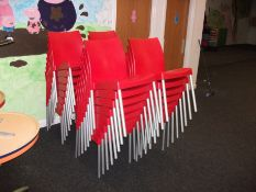Approx. 24 x Plastic Chairs, Red