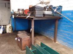 Metal Framed Work Bench