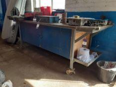 Mobile Metal Framed Work Bench
