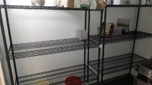 2 steel wire Adjustable Shelving Units, 1800mm