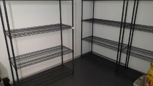 3 steel wire Adjustable Shelving Units, 1800mm