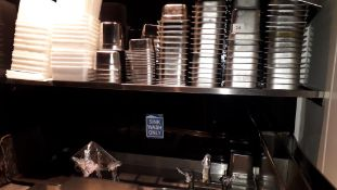 Large quantity of various Vogue stainless steel gastronorm Pans