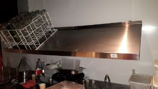 Stainless steel wall mount inclined shelf, 1600mm and stainless steel wall mount draining shelf,